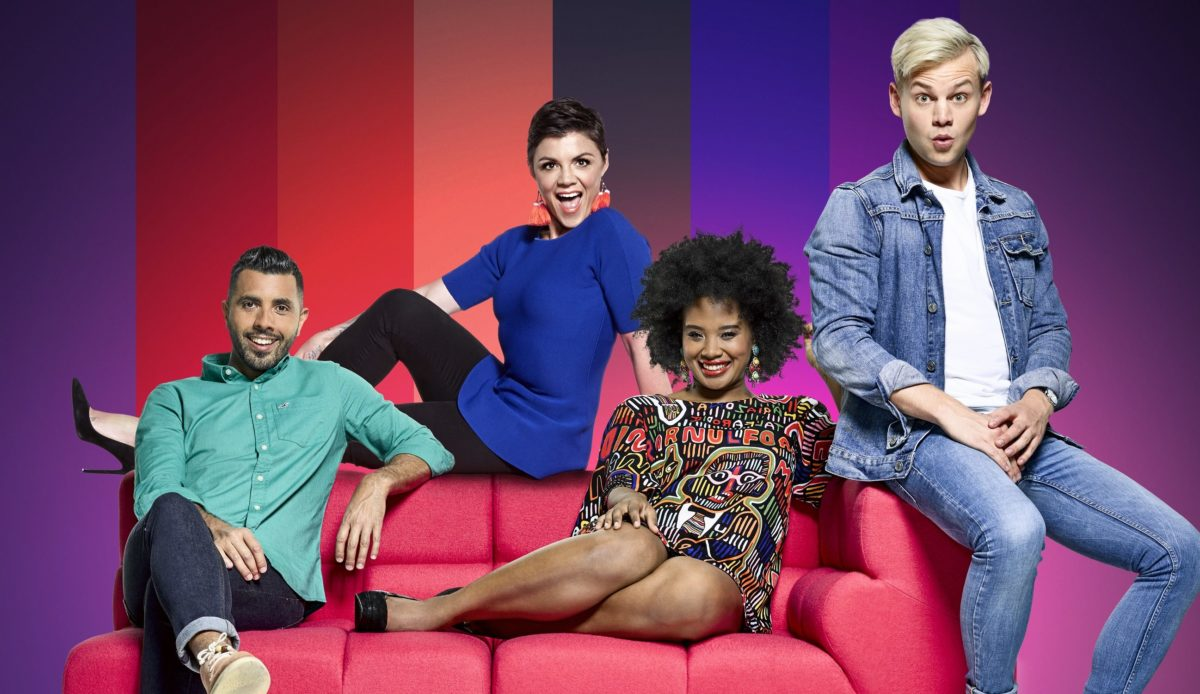The 2017 Sydney Gay & Lesbian Mardi Gras, hosted by Patrick Abboud, Em Rusciano, Faustina Agolley & Joel Creasey.