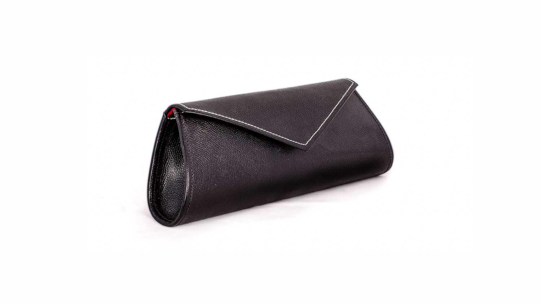 Black evening clutch