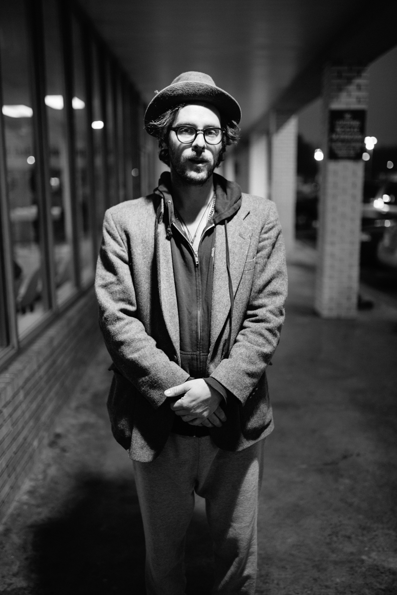Stelth Ulvang of The Lumineers - at Bull City Suds - Durham, NC Musician Portraits