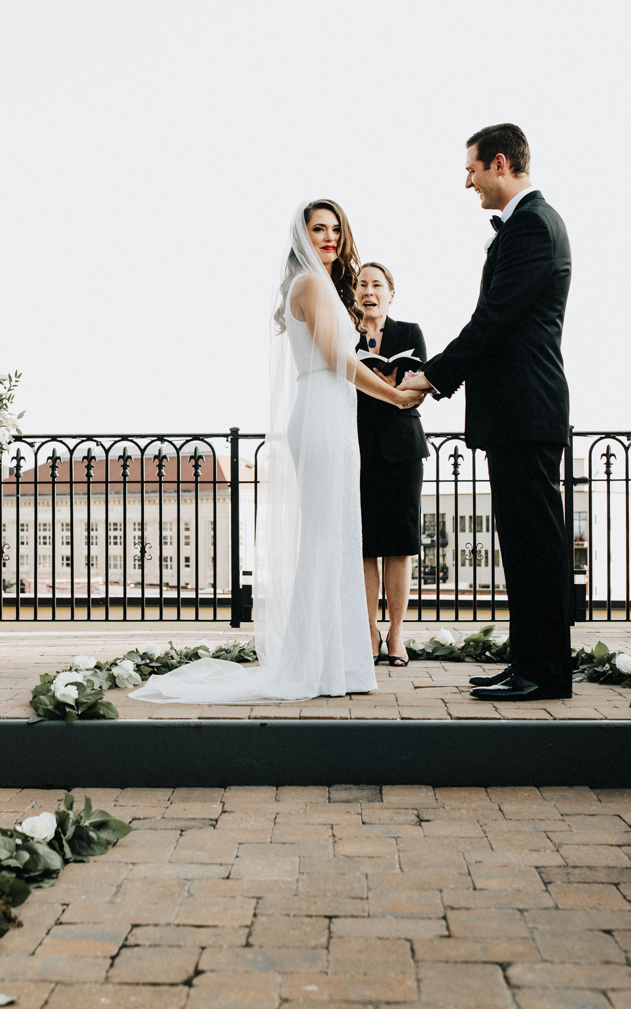 Rooftop wedding in Durham NC