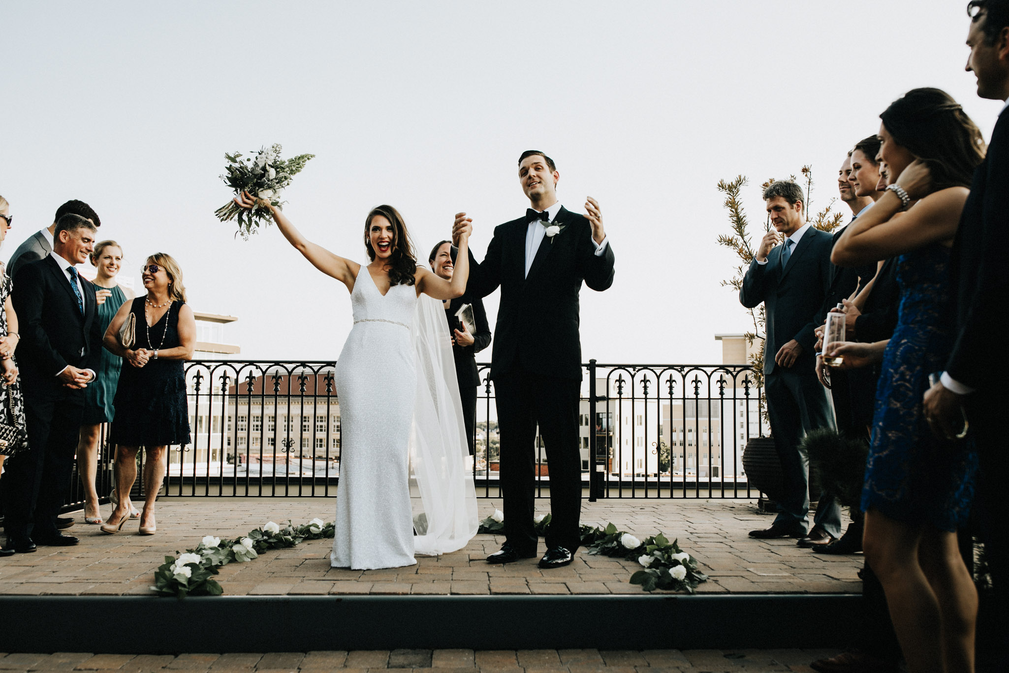 Rooftop wedding Raleigh NC