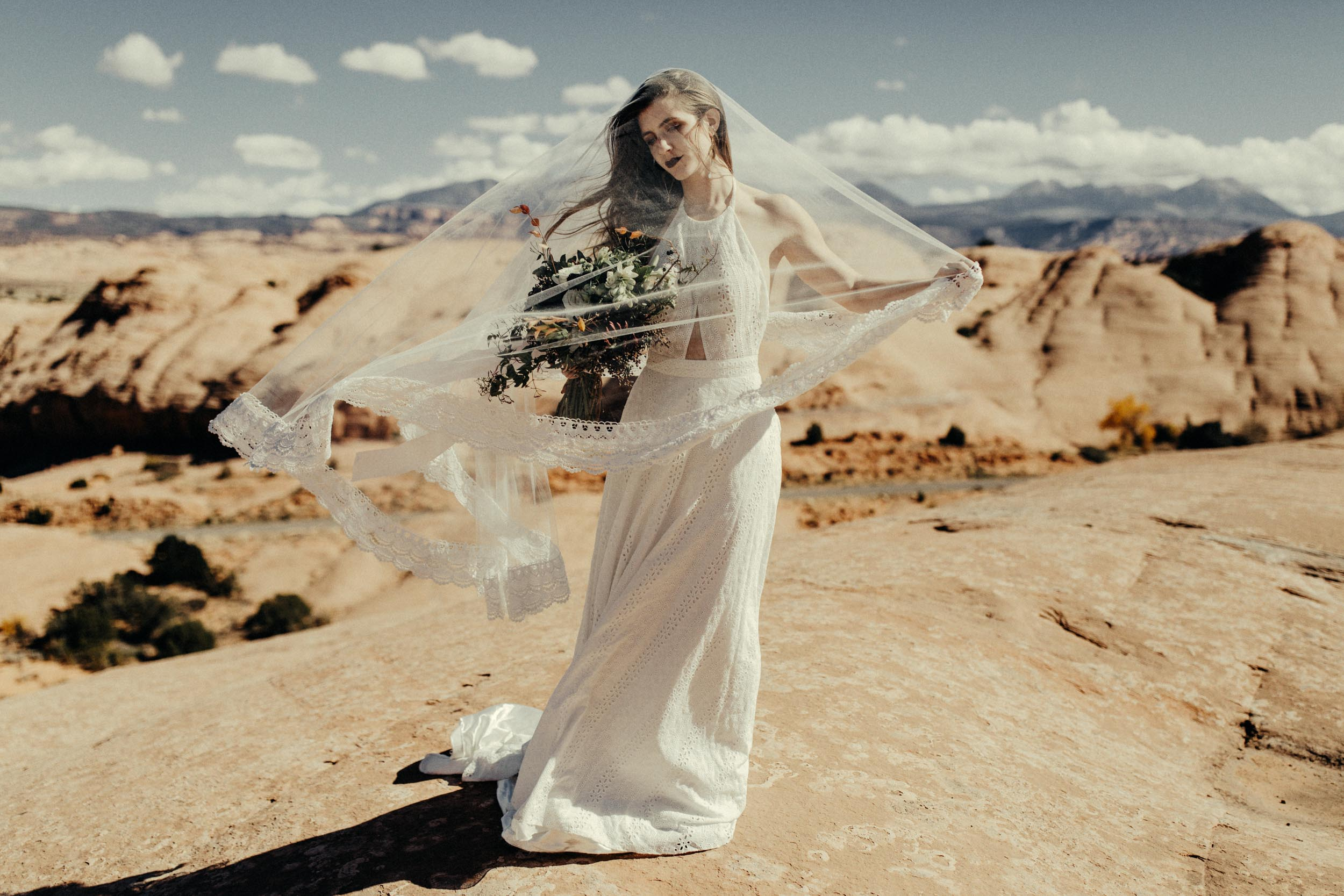 Bridal Portraits in Moab Utah