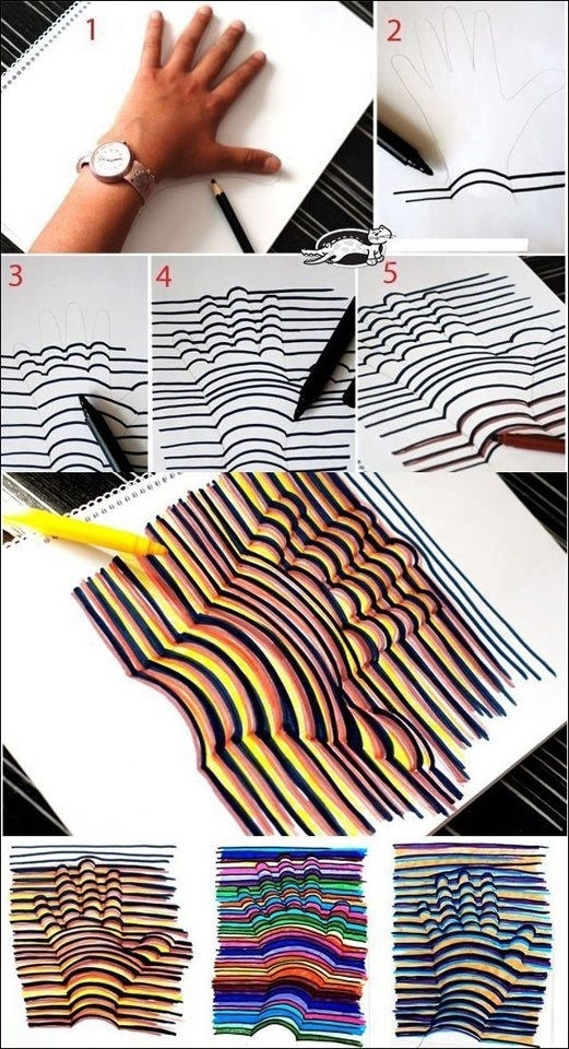Test out those new pens or markers with this neat hand pattern.