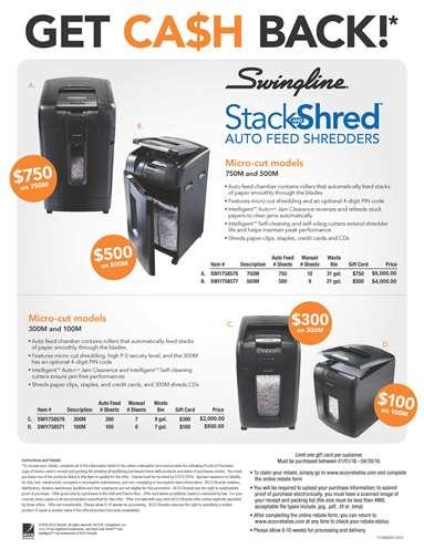 Stack and Shred Micro-cut shredders
