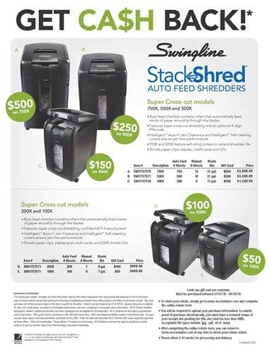 Stack and Shred Cross-cut shredders