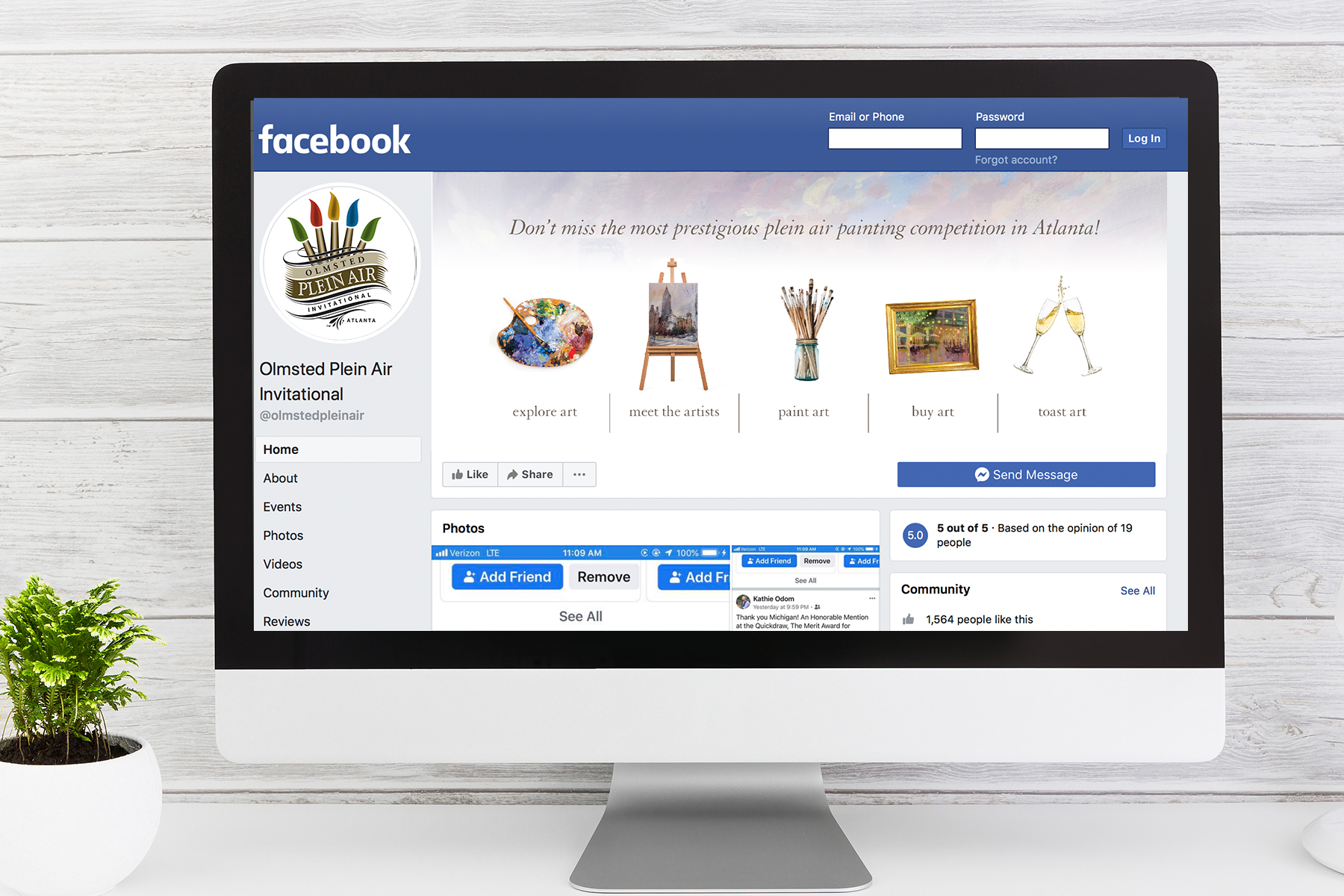 Make your facebook page pop with a creative banner.