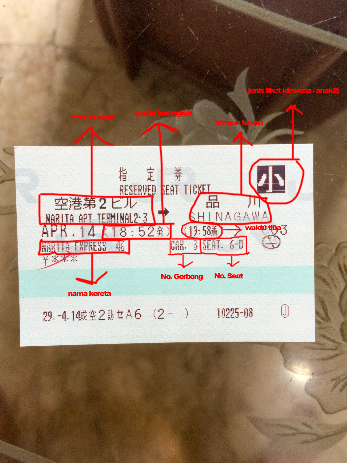 Reserved Ticket