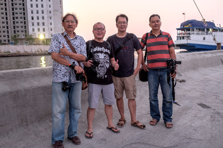 (Left-Right):  Bpk. Poernomo ,  Ajun ,  Enche Tjin ,  Erwin Mulyadi