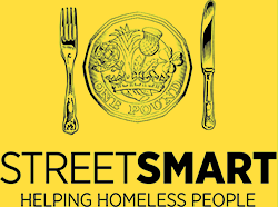 "StreetSmart - ""StreetSmart's ambitions are to connect the lucky citizen who can dine out with the unlucky ones for whom dining out means queuing up in front of food banks.""Stephen Fry"