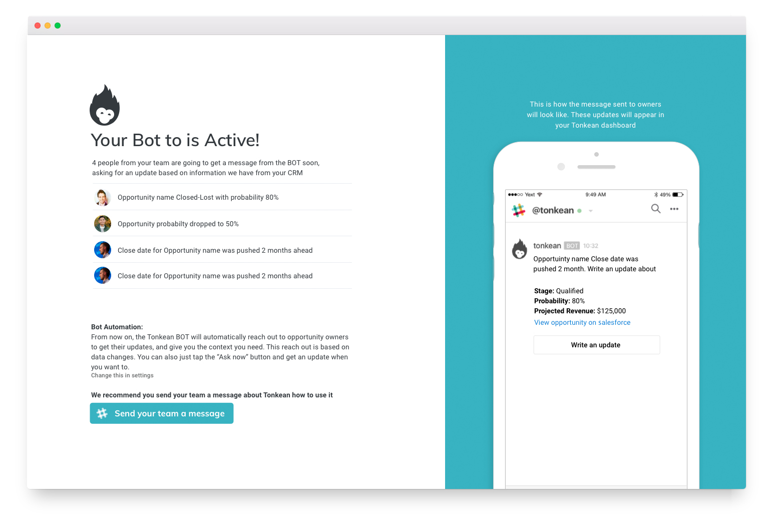 Review Bot activation
