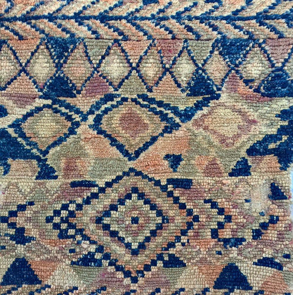 close up of a berber boujad rug