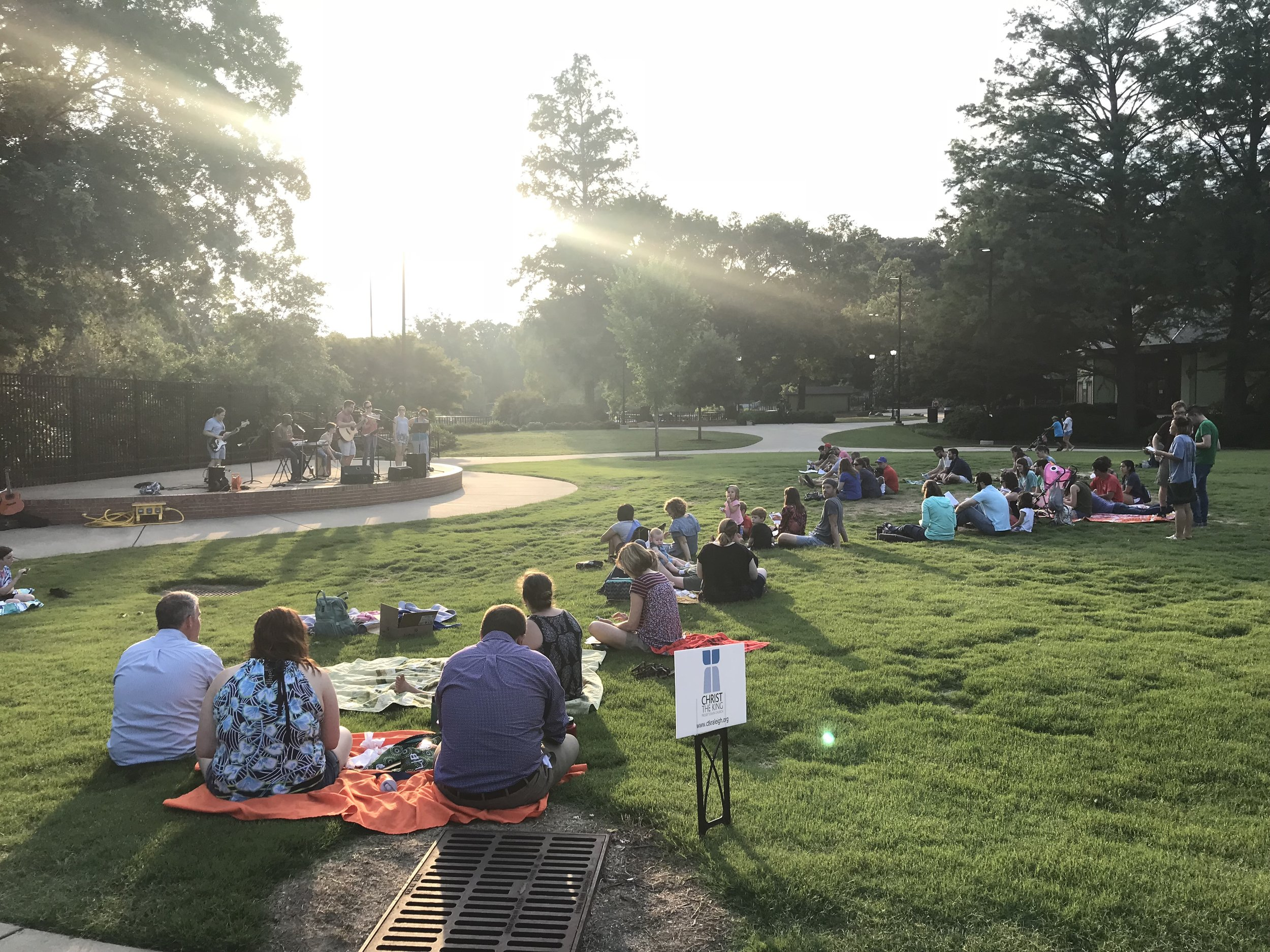 Worship in the Park - June 26 and August 21 | 6-8pmJoin us for two Worship Nights at Pullen Park this summer. We'll gather together at 6pm for dinner and pre-worship fellowship, then we will have a time of worship together at the Event Stage beginning at 6:30pm.