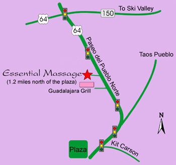 simplified map of Taos