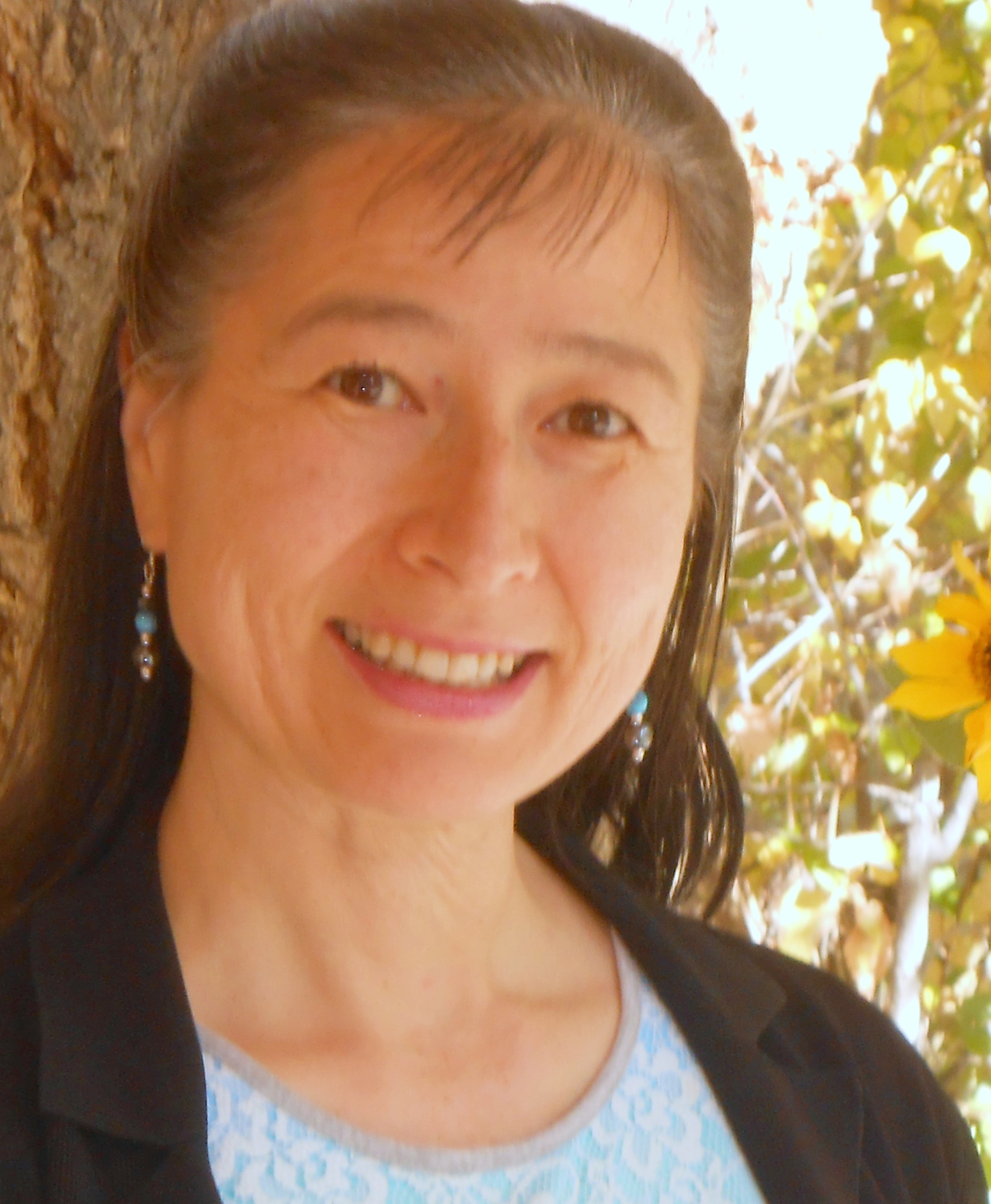 Kyoko Moriyasu Hummel   LMT #072 Licensed Instructor # I-119  Since 1991, Kyoko has offered various massage and spa therapies. In October 2000, Kyoko founded Essential Massage and Spa Therapies. She created our Anti-aging Eye Pampering and Herbal Foot Wrap therapies.  In 2016, Kyoko created the Crystal Cocoon Sessions in response to her own profound healing with the Biomat.  Kyoko specializes in Cranio-sacral therapy and prenatal massage. Cranio-sacral helps to enhance the flow of the cerebro-spinal fluid using gentle palpation and is profoundly relaxing. Kyoko delights in working with a firm yet gentle touch. She is also our colon therapist.