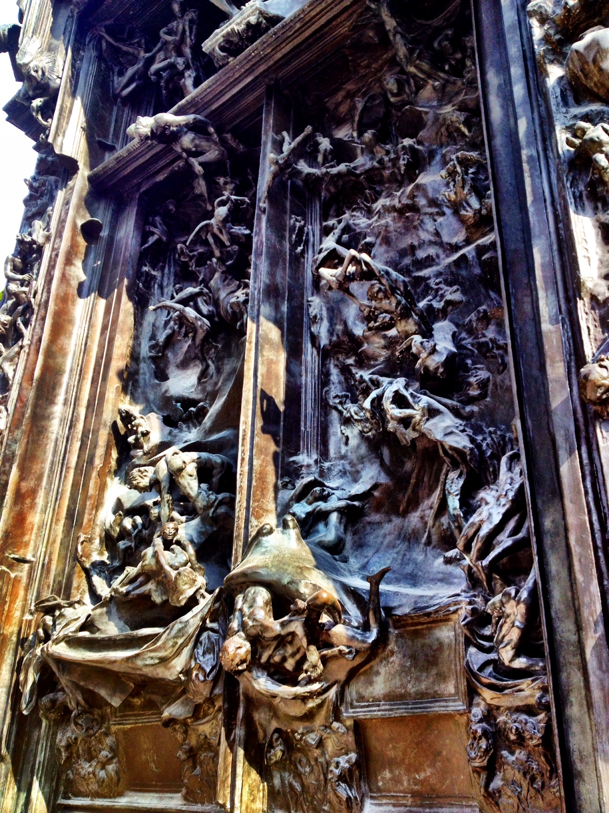 This is what Rodin thinks the gates of hell look like. Clearly, he never had to go through a TSA checkpoint.