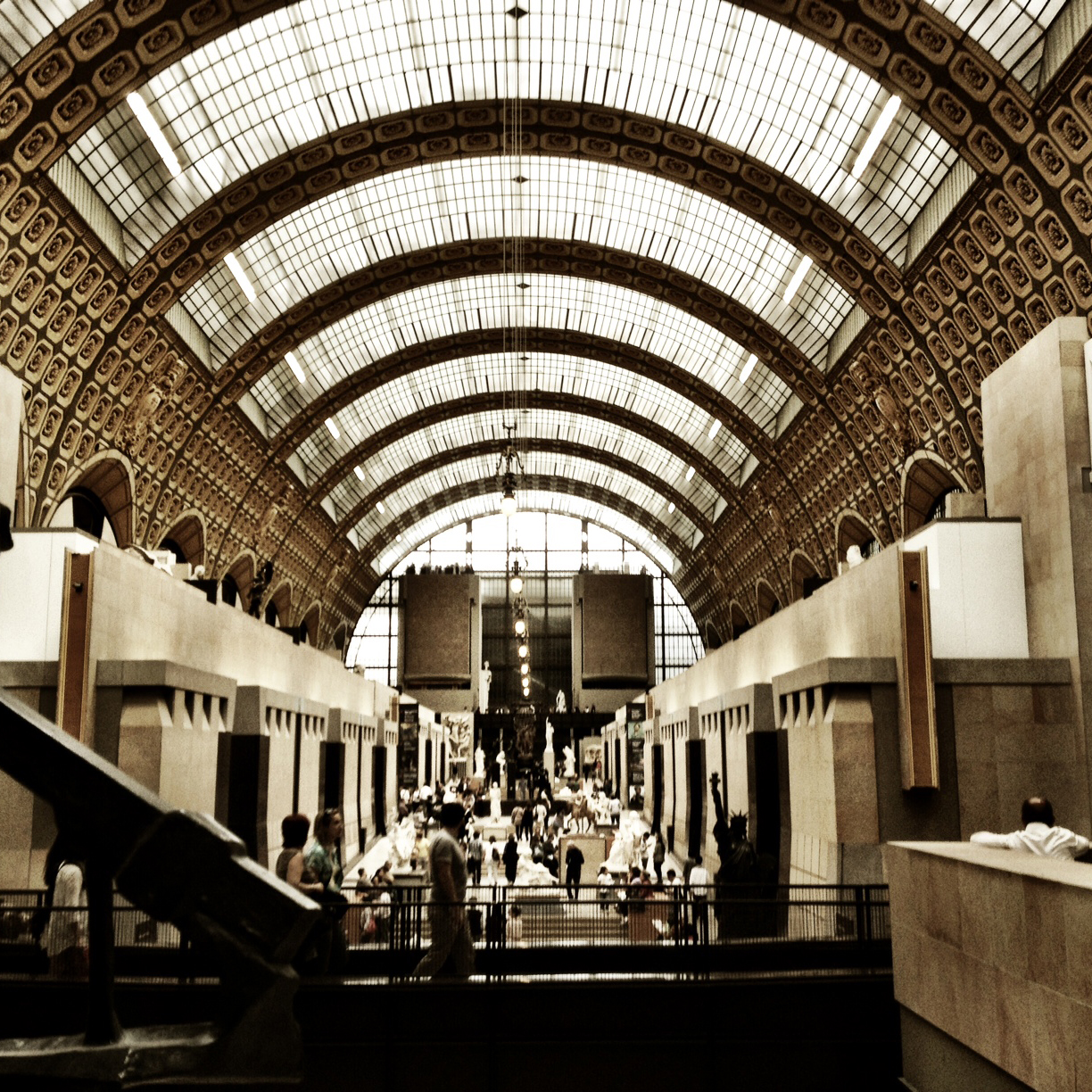 The D'Orsay is a beautiful converted train station.