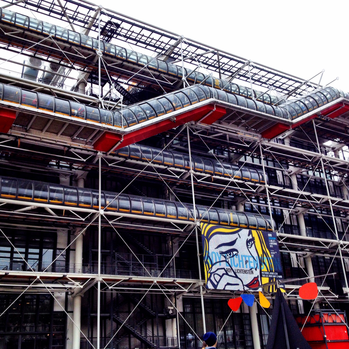 Backside of the Pompidou.