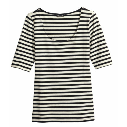 H&M Jersey Striped Top