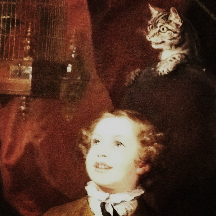I'm that guy who takes pictures of paintings just because there are cats.