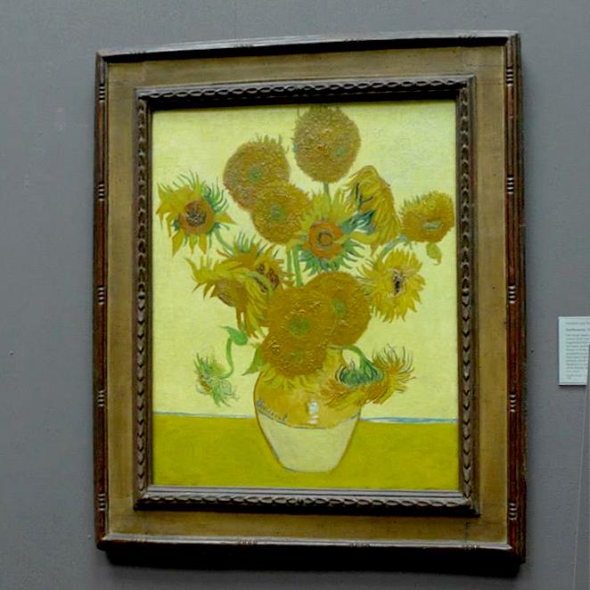 Van Gogh's  Sunflowers .