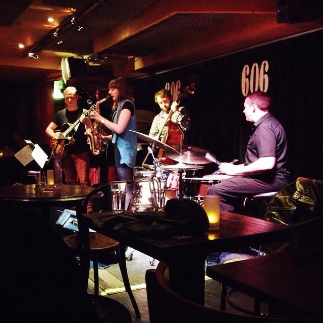 Sleepy jazz at the 606 Club.