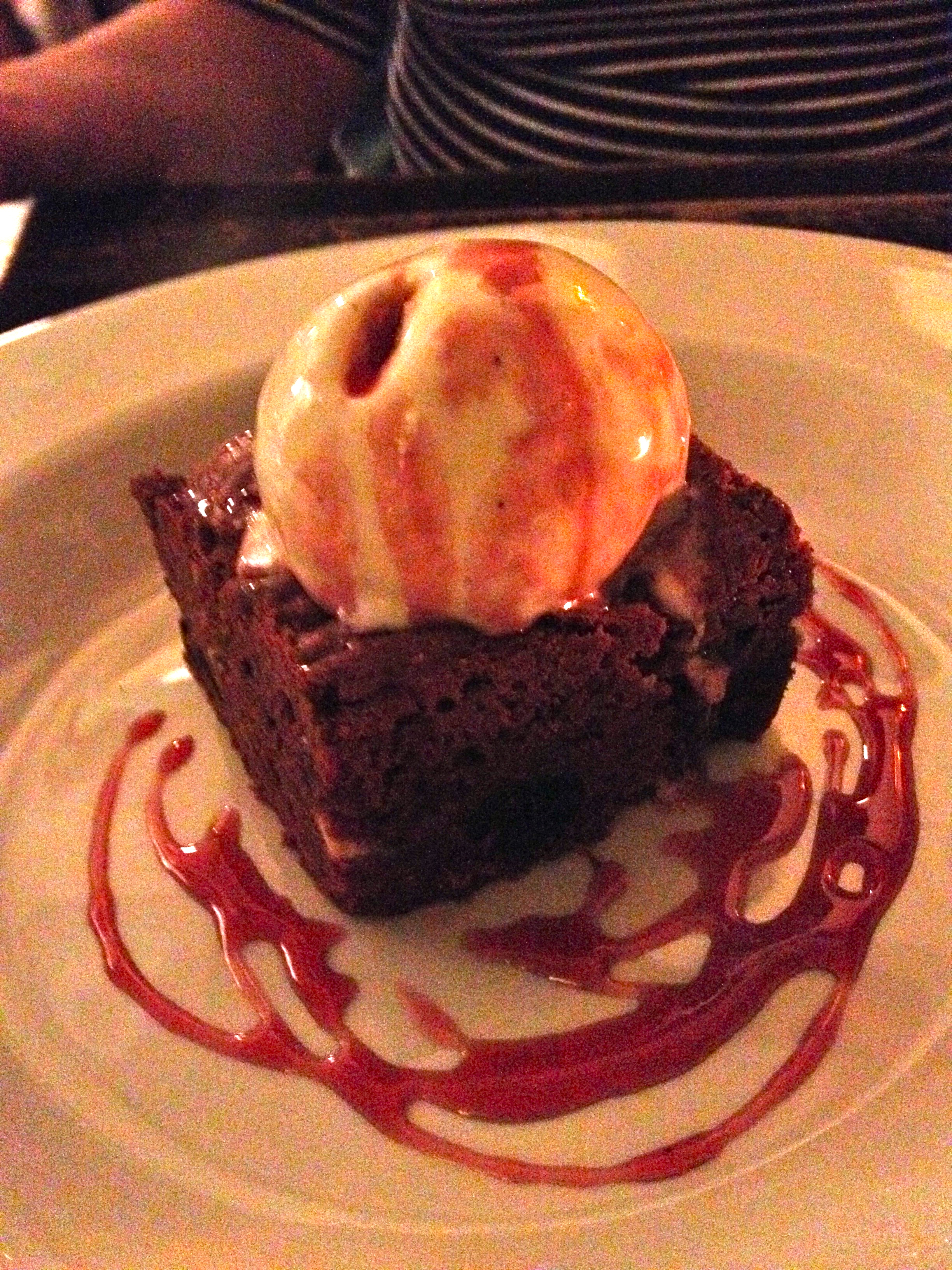 Some delicious brownie concoction at the  Winding Stair .