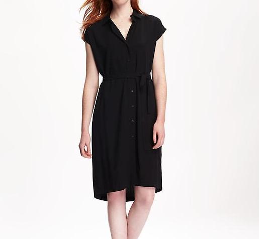 Dolman Sleeve Shirt Dress
