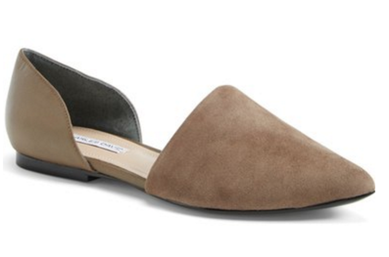 Charles David Pointy Toe D'Orsay Flat
