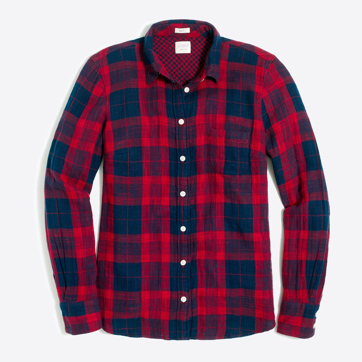 Double-faced washed shirt