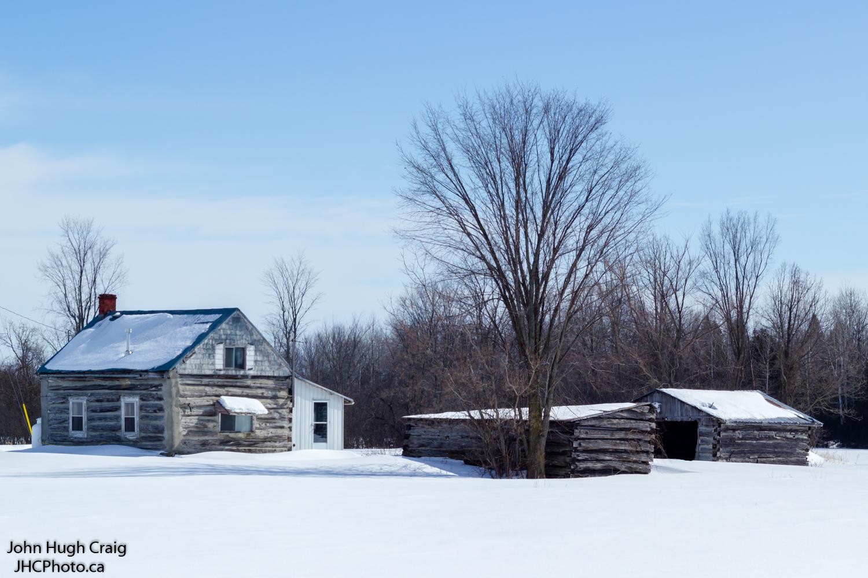Winter Log Farm