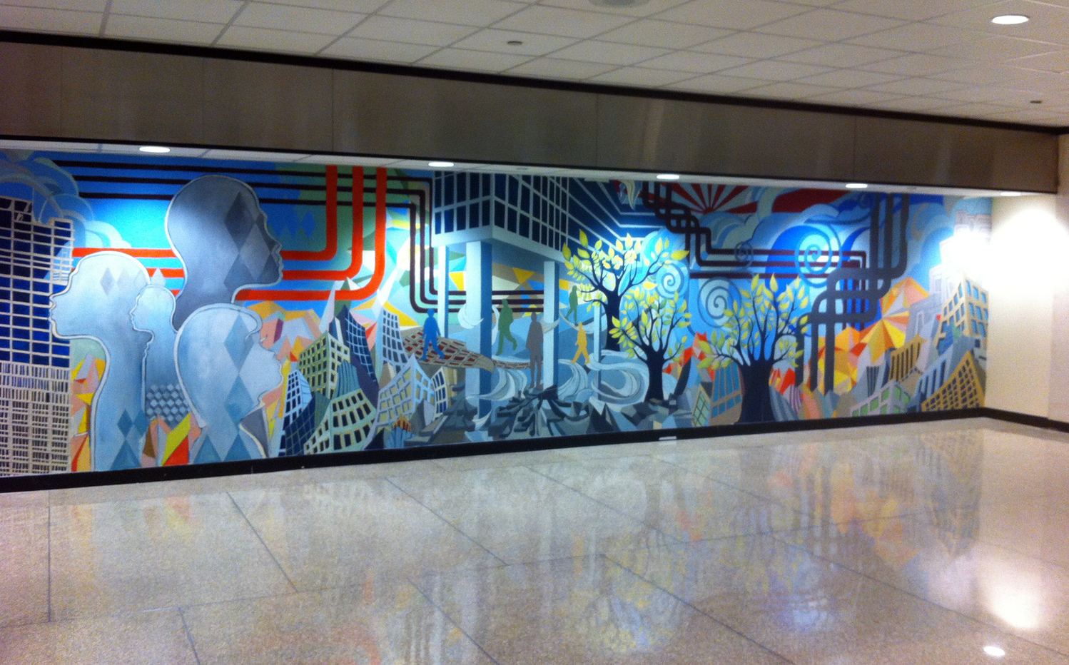 He Painted the Sun ,1285 Avenue of the Americas (2011)