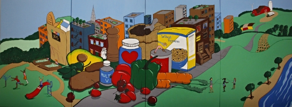 The CAW Mural commissioned by Whole Foods for their recently opened Upper East Side Market
