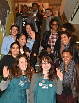 """Youth Employees meet with Whole Foods Marketing Staff as part of the CAW program """"The Art of Business and the Business of Art."""""""