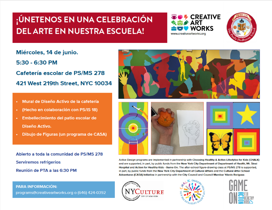 Culminating Event Flyer, Spanish Language