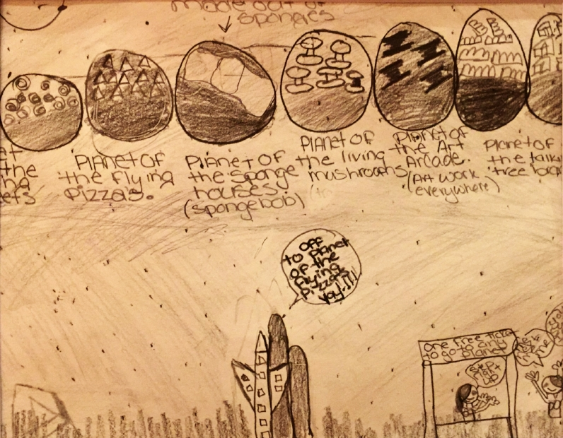Flights of fancy - eight planets each with its own texture and backstory
