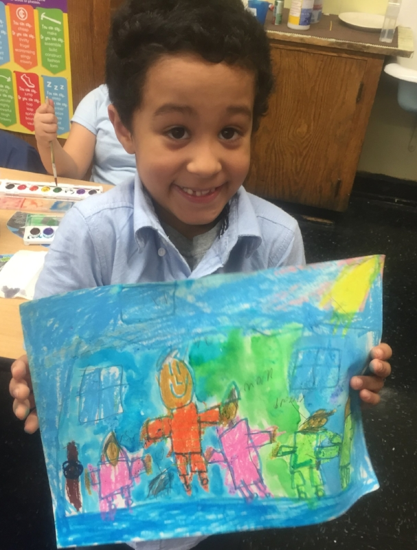 A portrait of a second grade student's family and home.