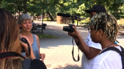 Multimedia Team Apprentices conduct an interview