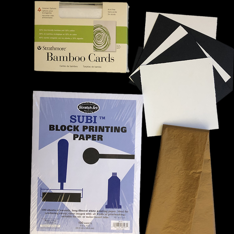 Try printing on construction paper, blank greeting cards, cardboard, or wrapping tissue.