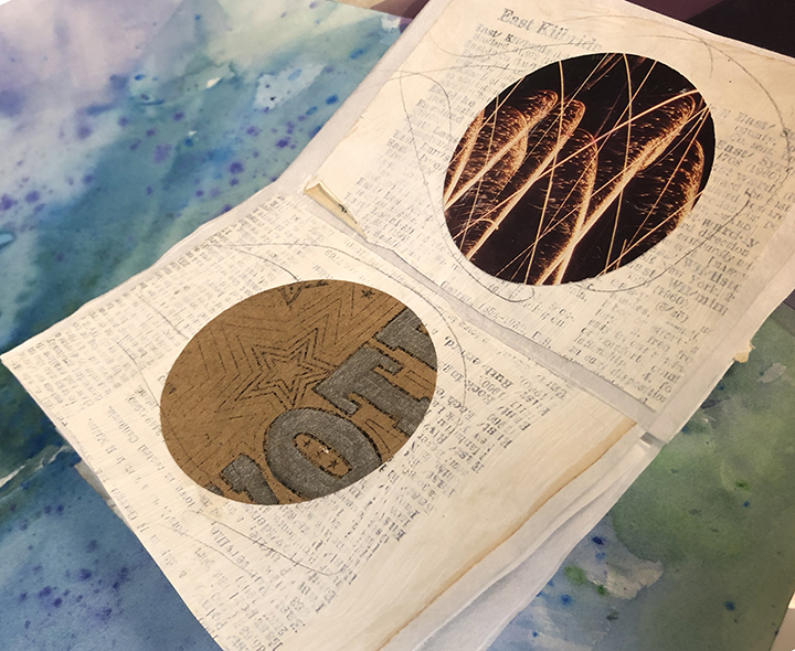 Book Arts introduced students to traditional book-binding skills.