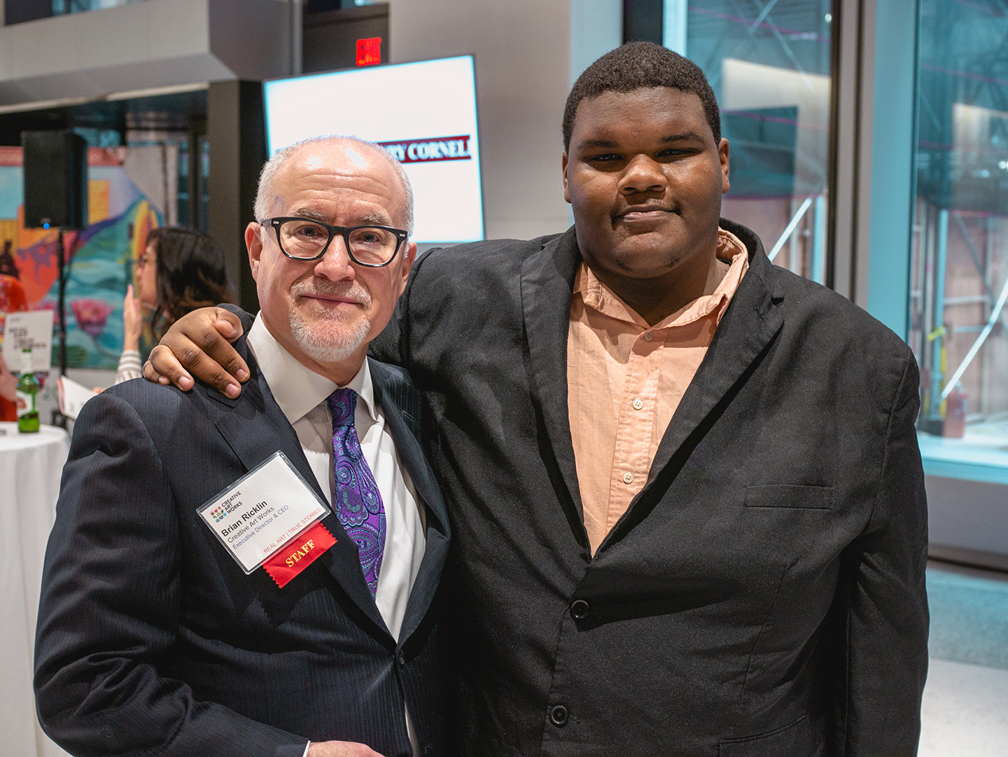 "The Highlight of My Evening… - ""The highlight of my evening was the surprise attendance of this young man, an alum and dear friend, who came to the Benefit, because he wanted others to know how important we were in his life.""— CAW Executive Director Brian Ricklin"