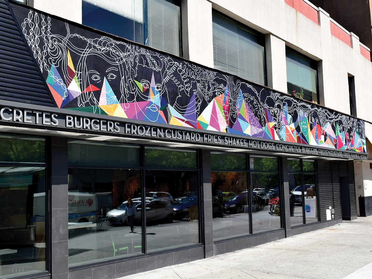 Double Vision   is the fourth mural by Creative Art Works on 125th Street. It joins  Marching Towards the Future  inside Whole Foods Harlem and  How Do I See Myself  in the plaza of the Adam Clayton Powell Jr. Federal Office Building.