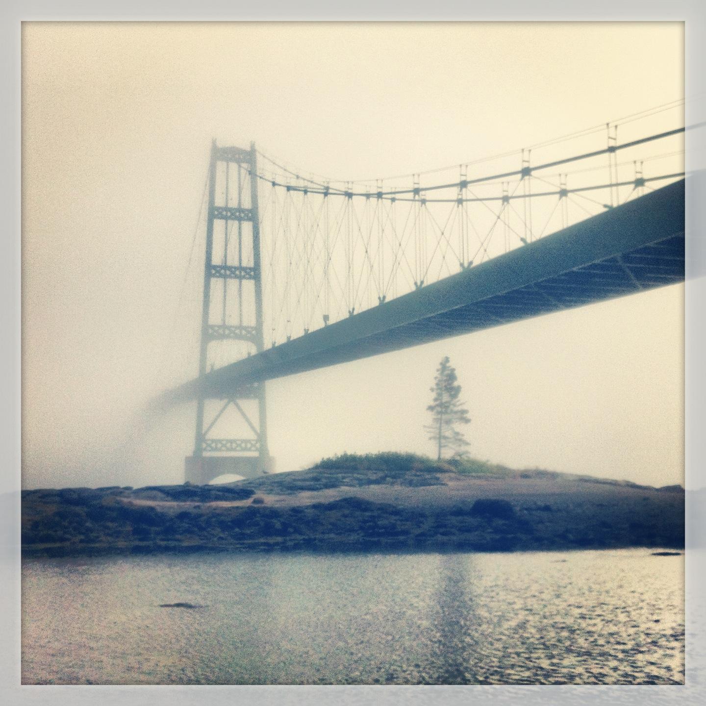 Fog Shrouding the Little Deer Isle Bridge, July 2013