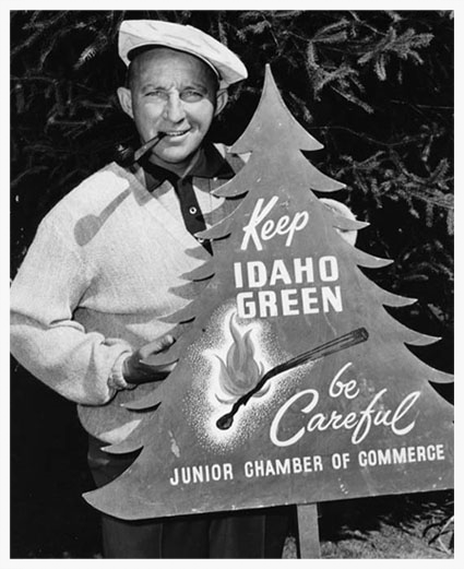 "Bing says, ""Keep Idaho green."" Photo courtesy of ForestHistory.org"