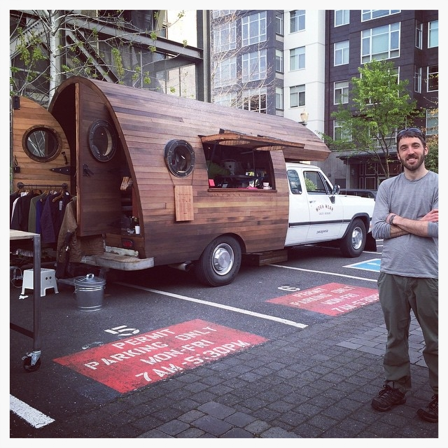 The Patagonia  Worn Wear  repair truck. Image courtesy of @tinyhousegiantjourney.