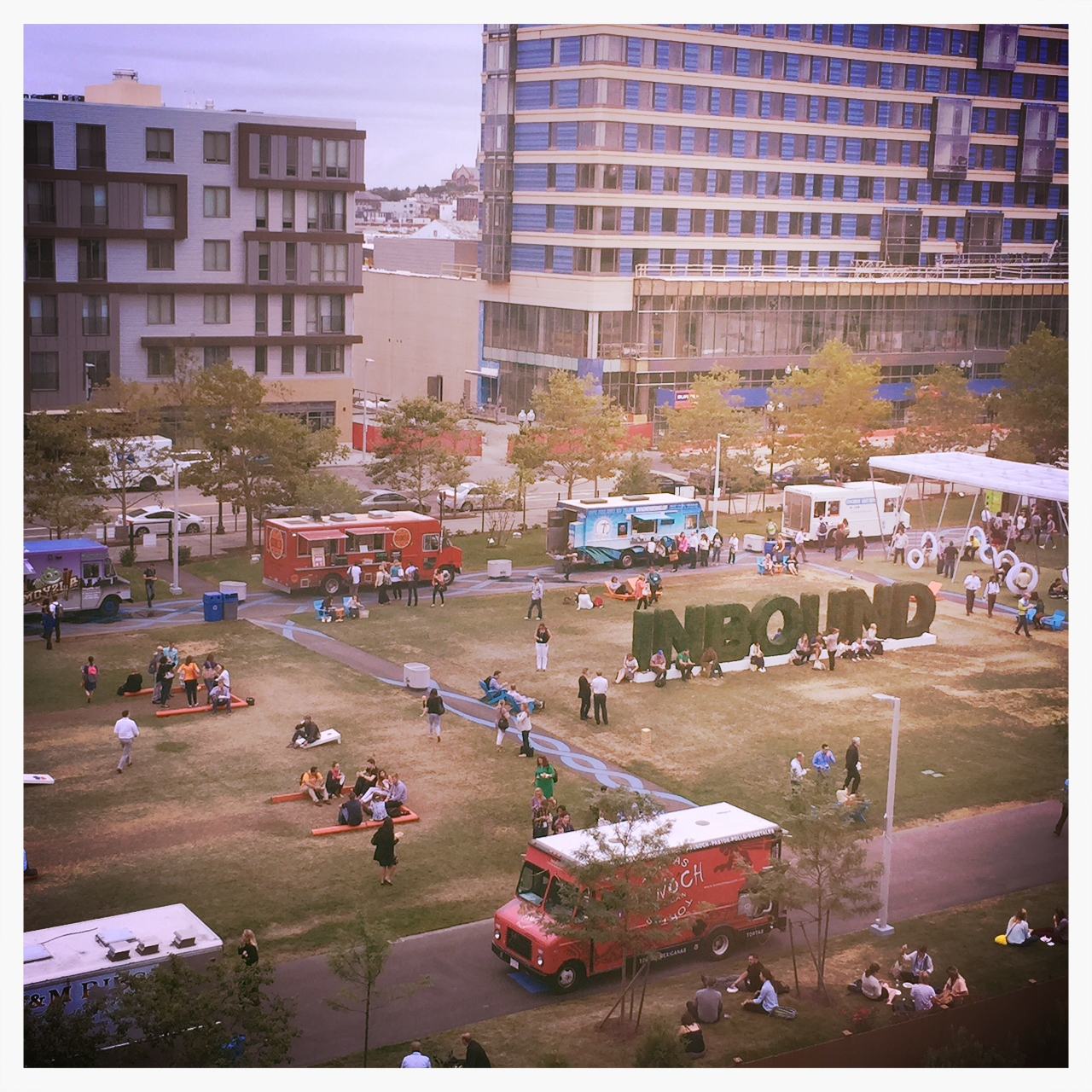 The park outside INBOUND 2015 (featuring those lovely food trucks).