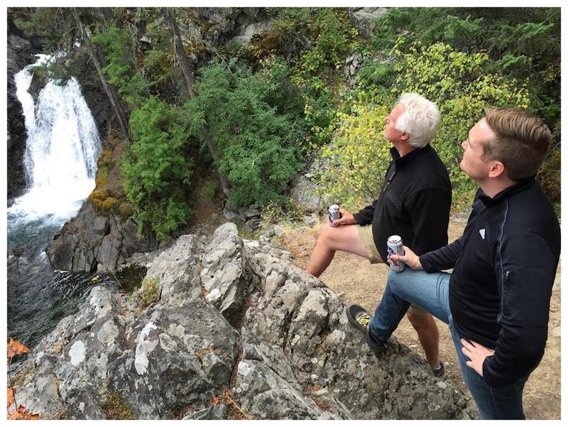 Hiking with my Pa at Wallowa Lake.