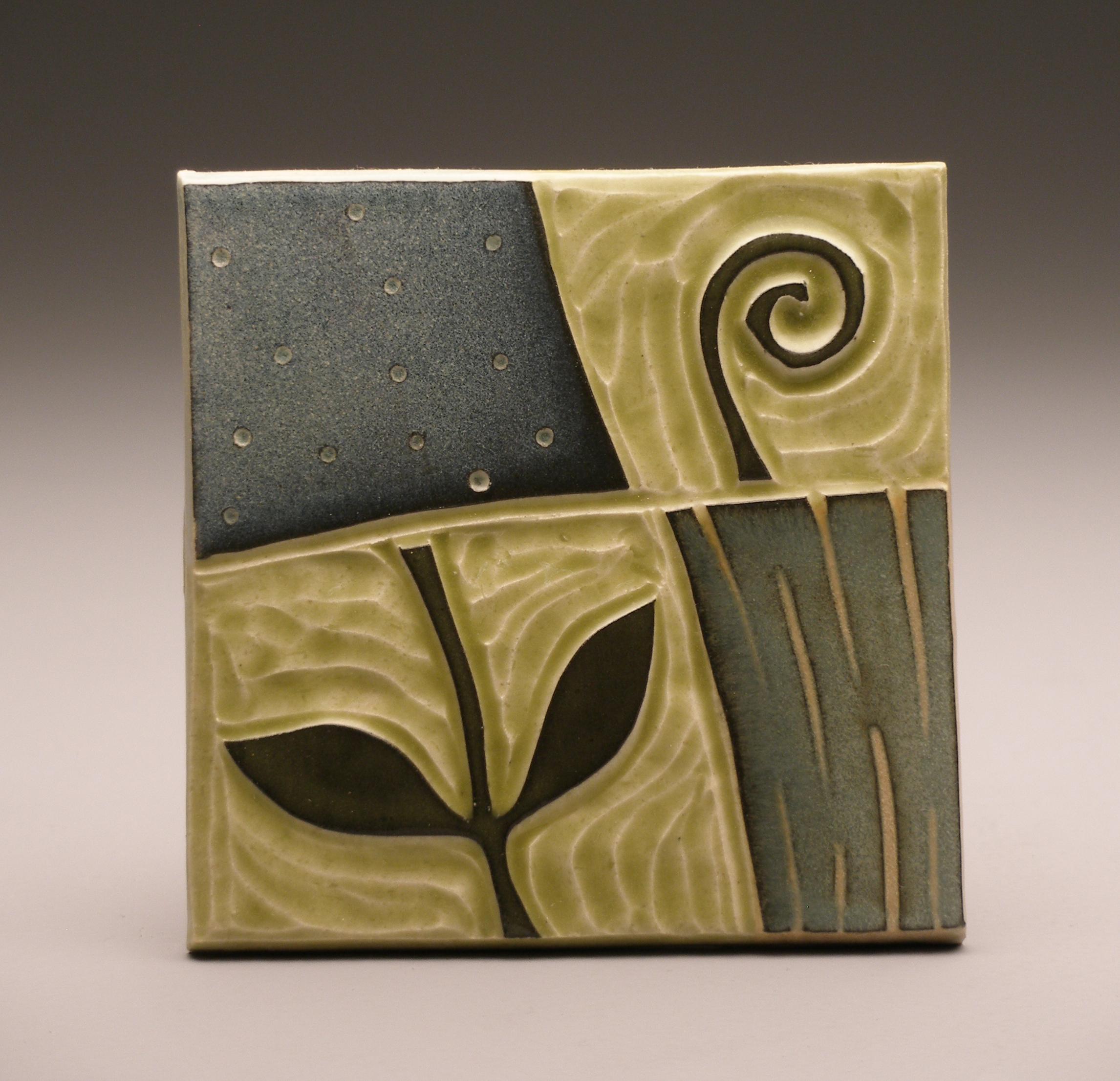 18A Spring Ruchika Madan woodcut block print