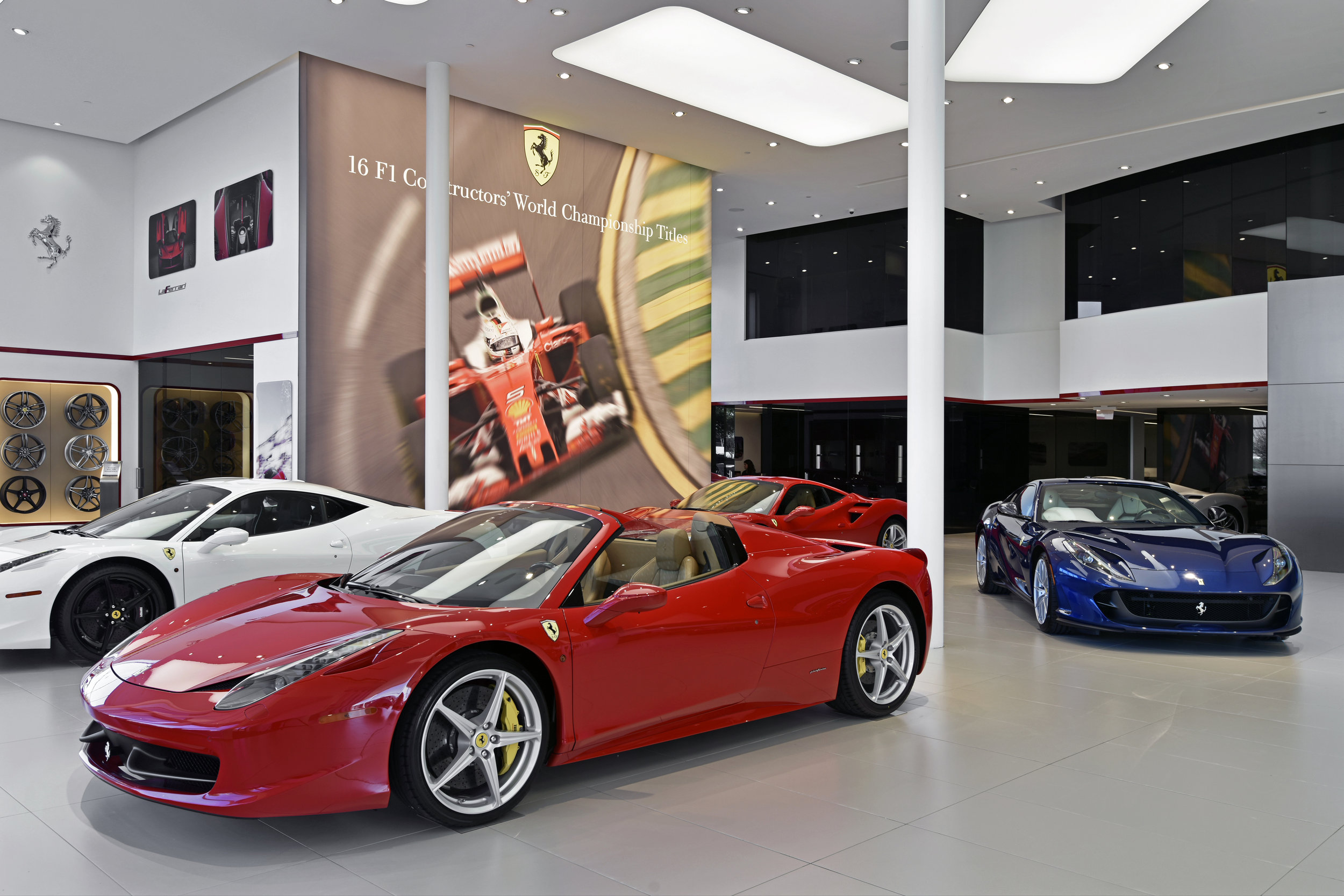 Recently Completed Project Boardwalk Ferrari Remodel Plano Tx Ridgemont Commercial Construction