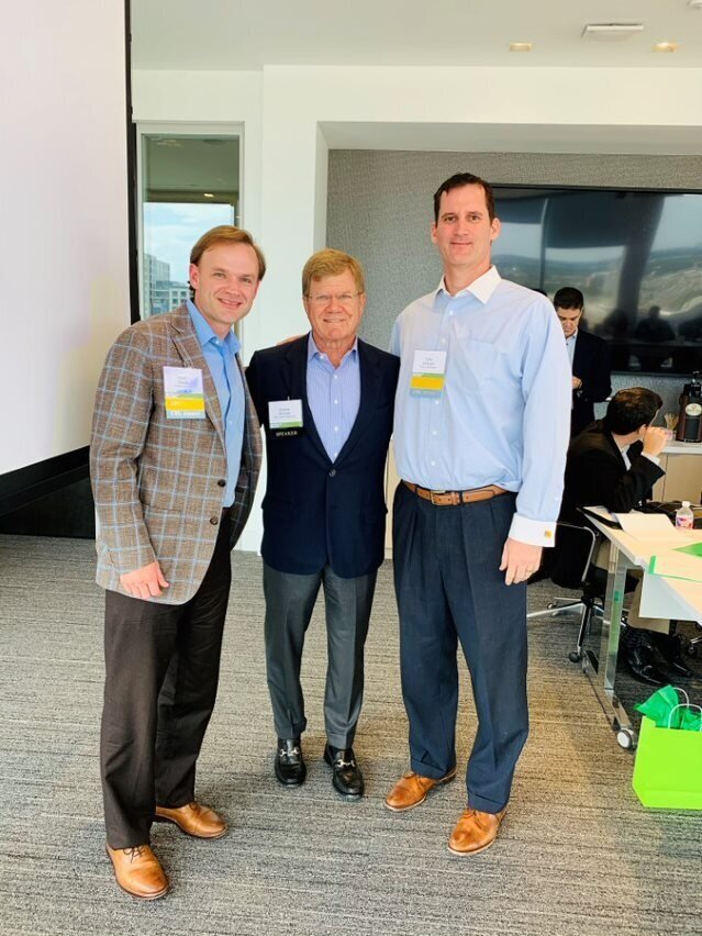 Charlie Brindell with our Class Co-Chairs, Ryan Davis (Whitten Advisors) and Tyler Johnson (Husch Blackwell)