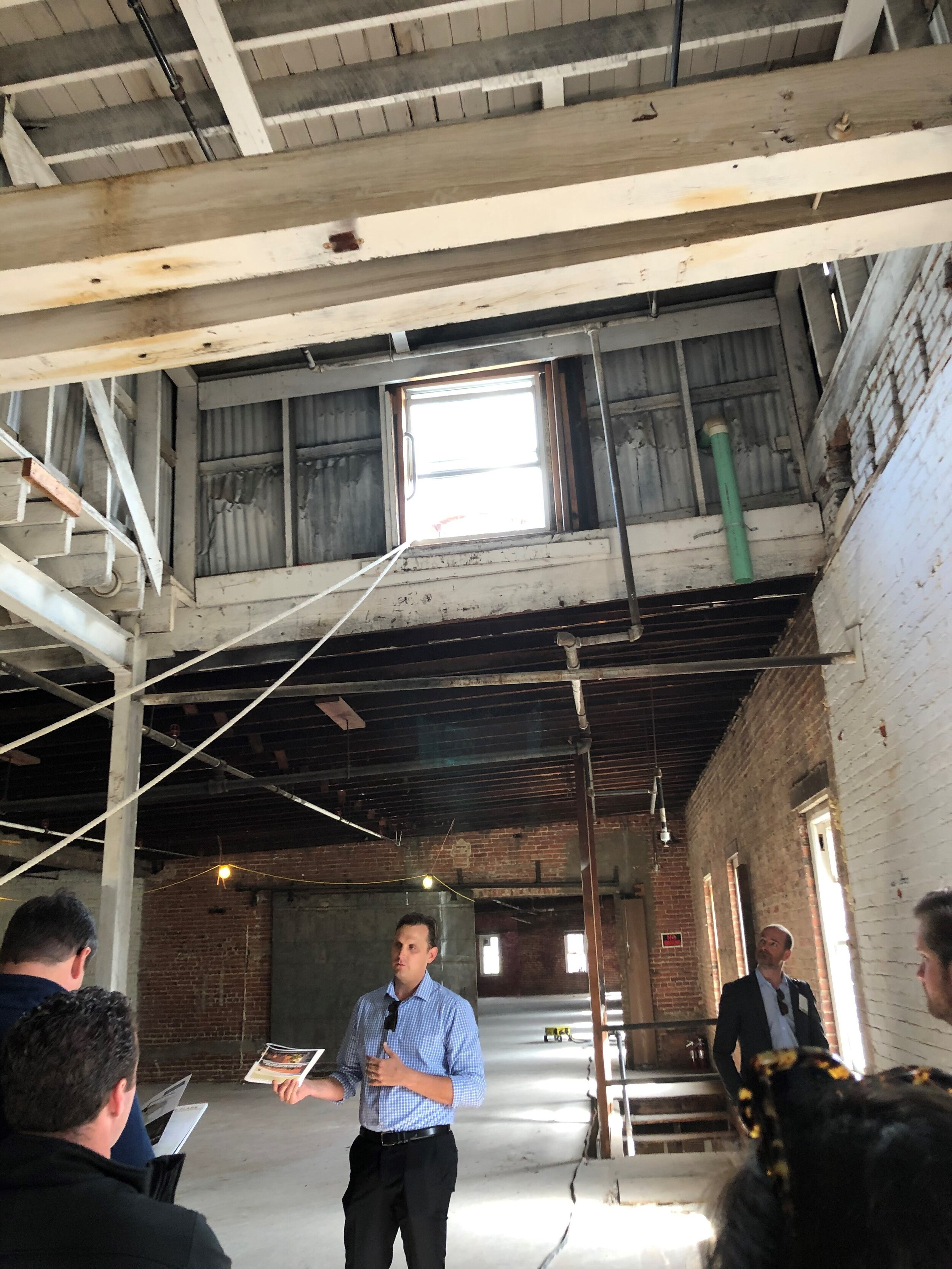 Evan August, SVP, Eastdil Secured – look at that skylight and ceiling structure! (Told you I'd geek out.)